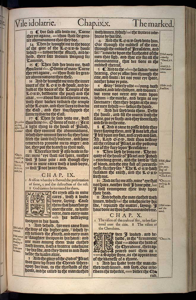 Ezekiel Chapter 8 Original 1611 Bible Scan