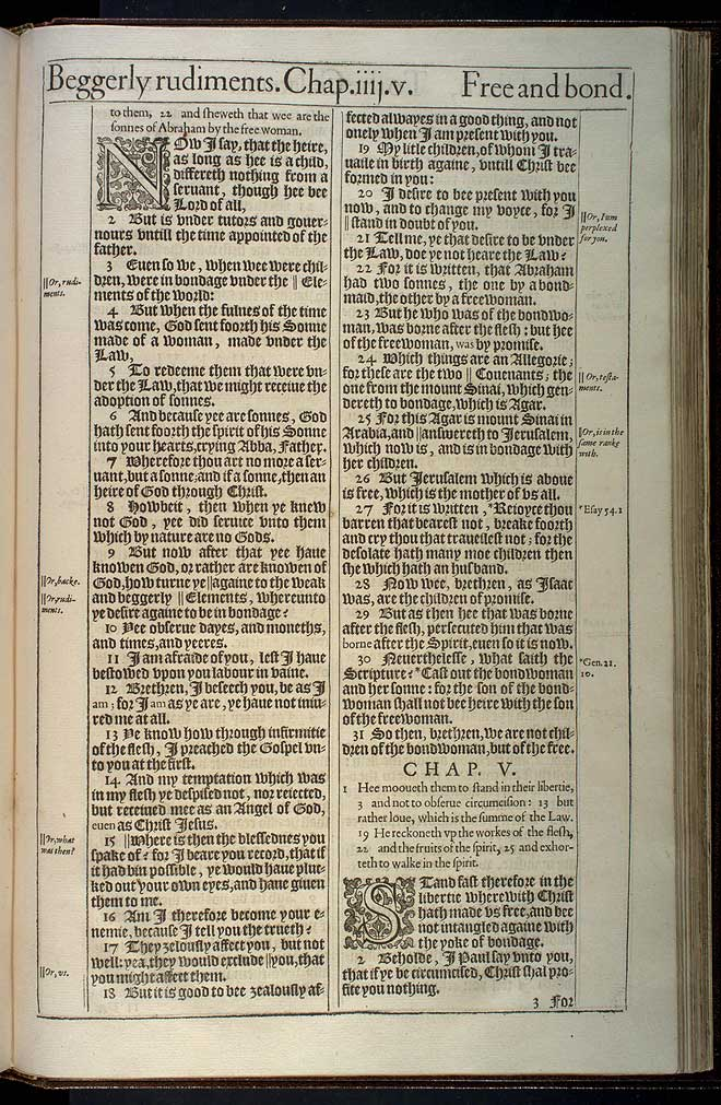 Galatians Chapter 5 Original 1611 Bible Scan
