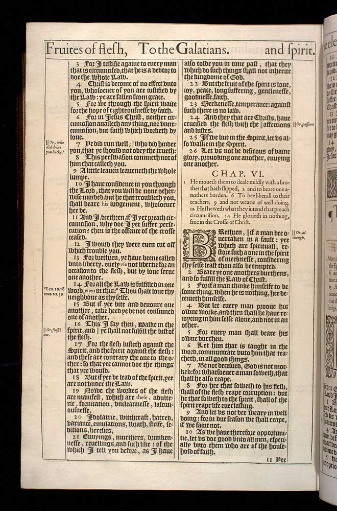 Galatians Chapter 6 Original 1611 Bible Scan