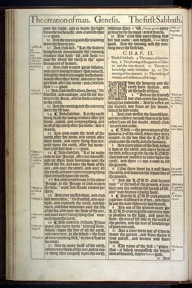 Genesis Chapter 1 Original 1611 Bible Scan