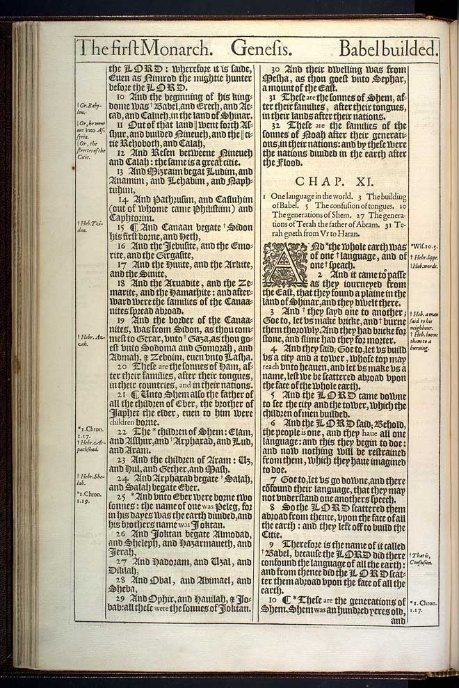 Genesis Chapter 10 Original 1611 Bible Scan