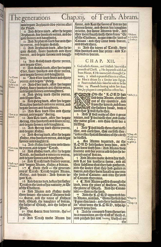 Genesis Chapter 11 Original 1611 Bible Scan
