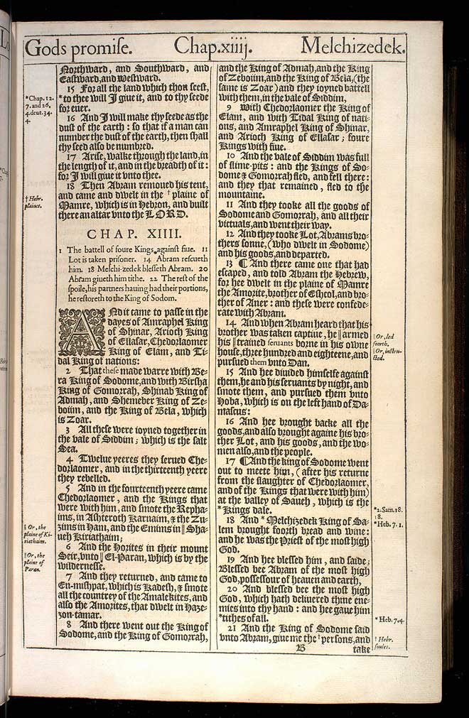 Genesis Chapter 14 Original 1611 Bible Scan