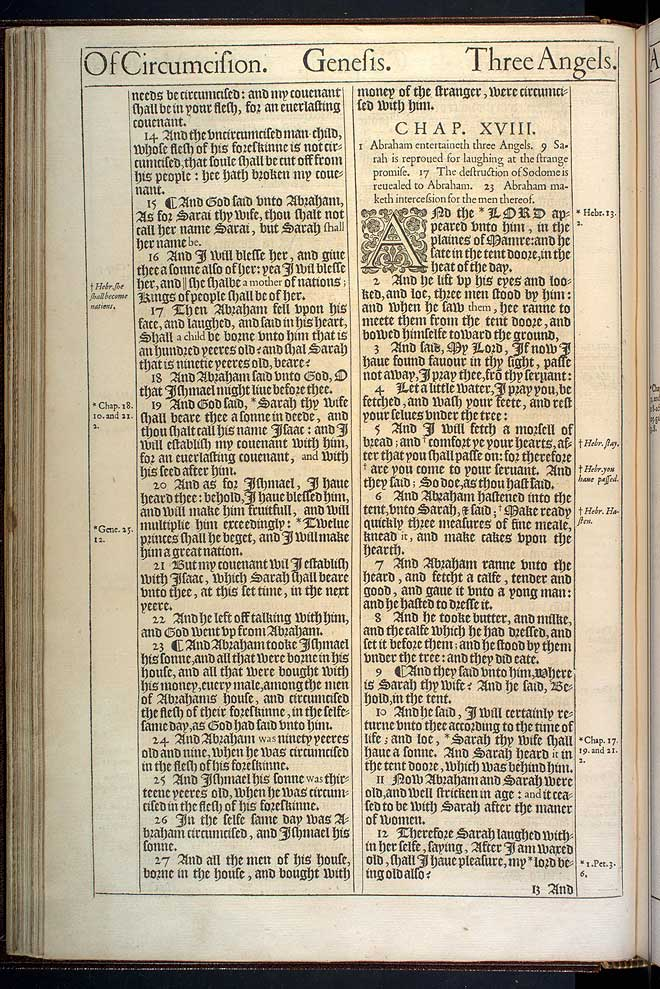Genesis Chapter 18 Original 1611 Bible Scan