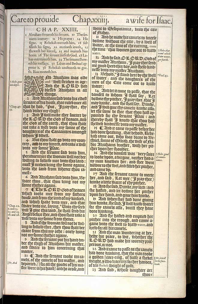 Genesis Chapter 24 Original 1611 Bible Scan