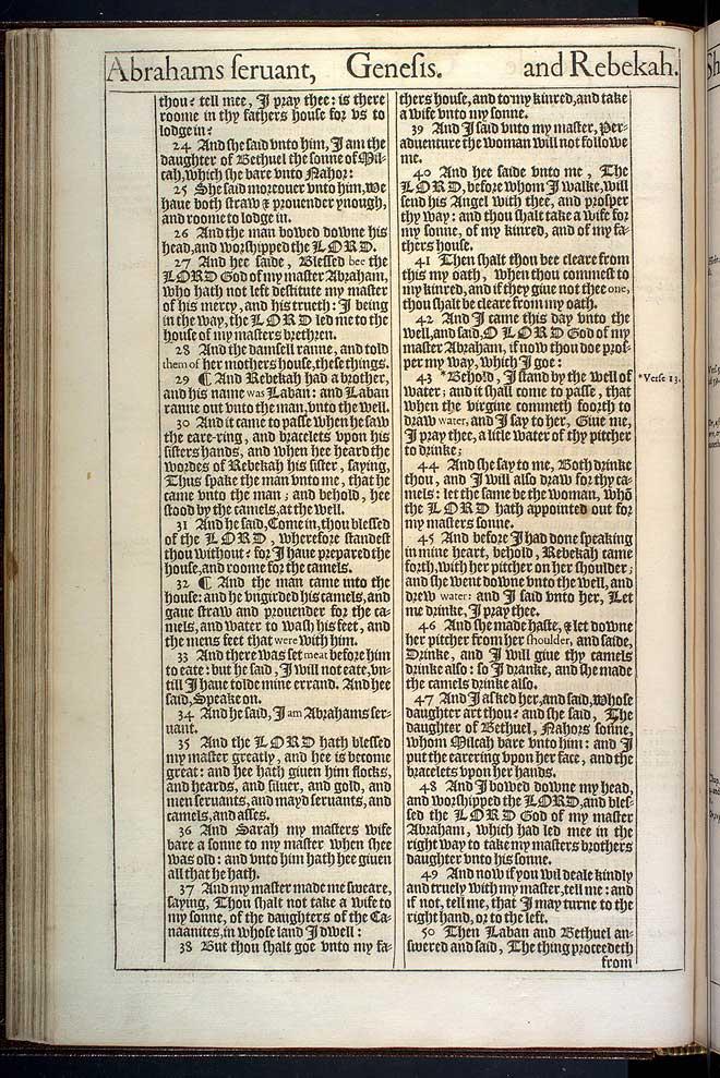Genesis Chapter 24 Original 1611 Bible Scan