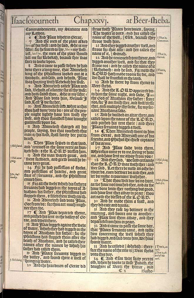 Genesis Chapter 26 Original 1611 Bible Scan