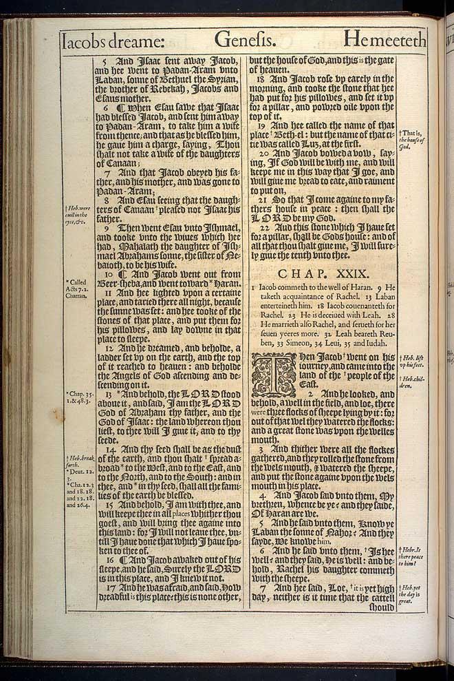 Genesis Chapter 28 Original 1611 Bible Scan