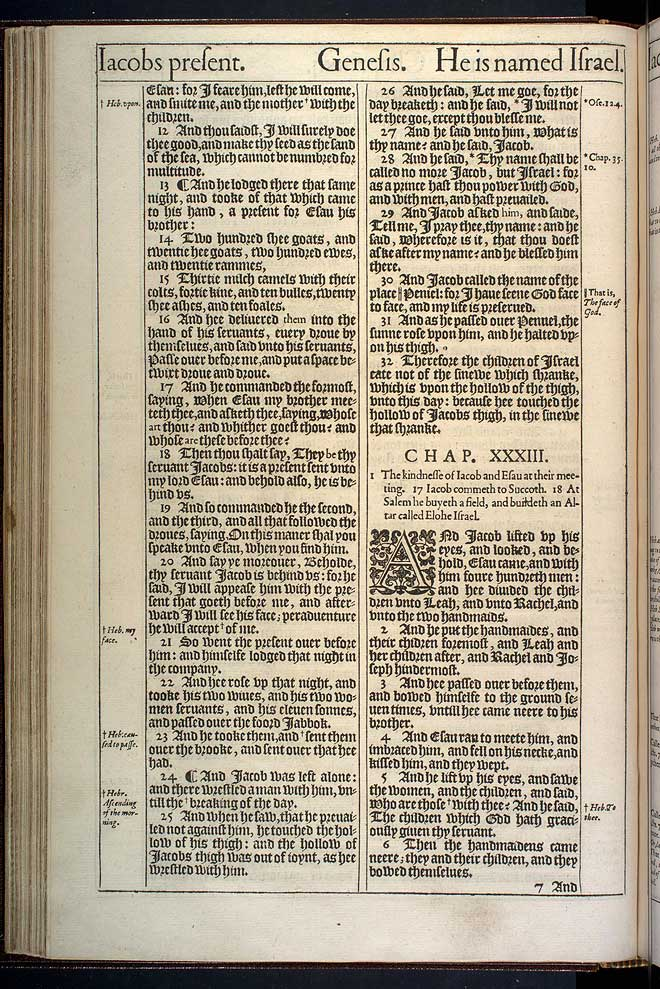 Genesis Chapter 32 Original 1611 Bible Scan