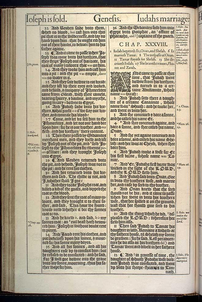 Genesis Chapter 37 Original 1611 Bible Scan