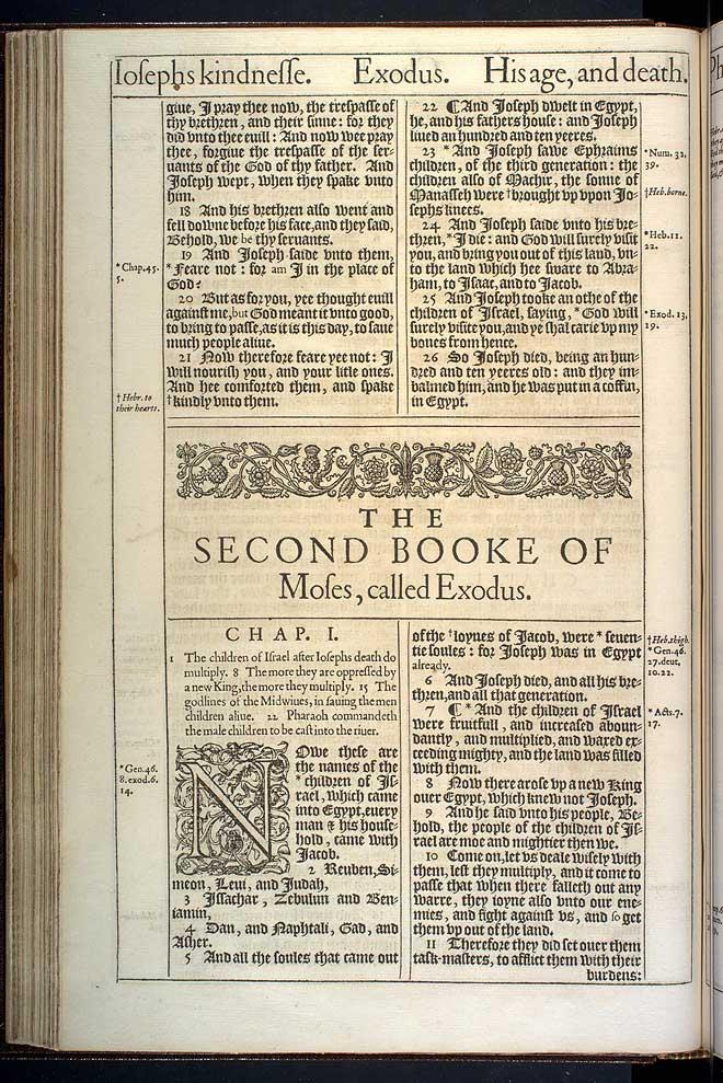 Exodus Chapter 1 Original 1611 Bible Scan