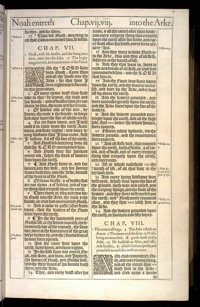 Genesis Chapter 7 Original 1611 Bible Scan