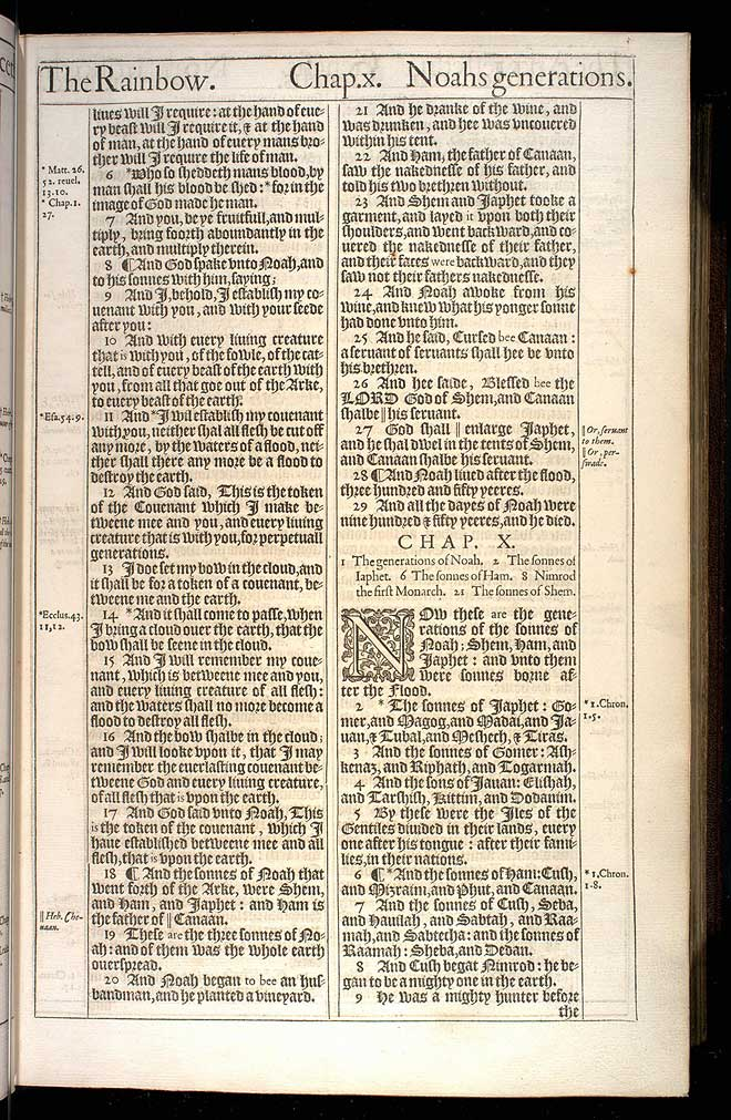Genesis Chapter 9 Original 1611 Bible Scan