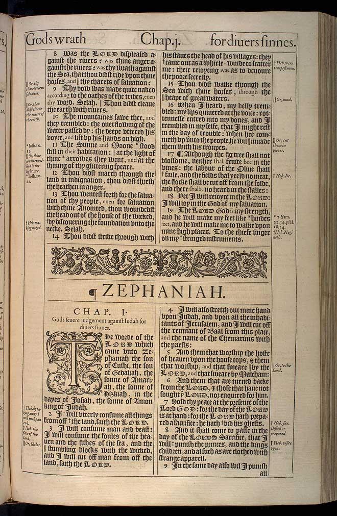 Zephaniah Chapter 1 Original 1611 Bible Scan