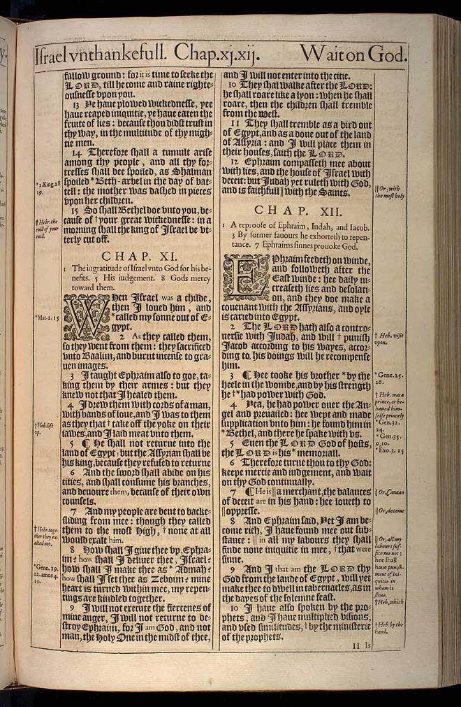 Hosea Chapter 10 Original 1611 Bible Scan