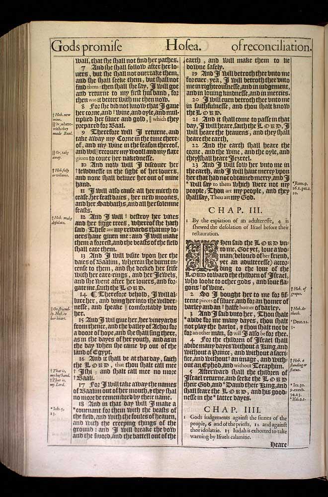 Hosea Chapter 2 Original 1611 Bible Scan