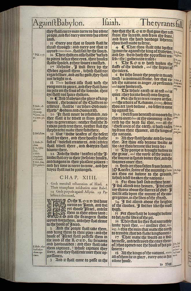 Isaiah Chapter 14 Original 1611 Bible Scan