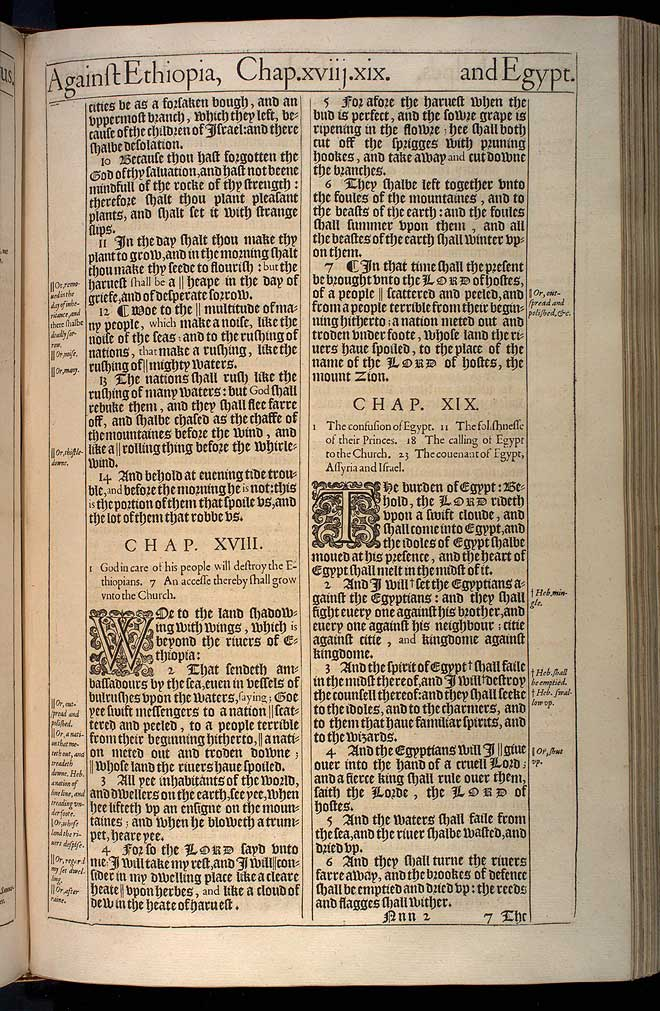 Isaiah Chapter 18 Original 1611 Bible Scan