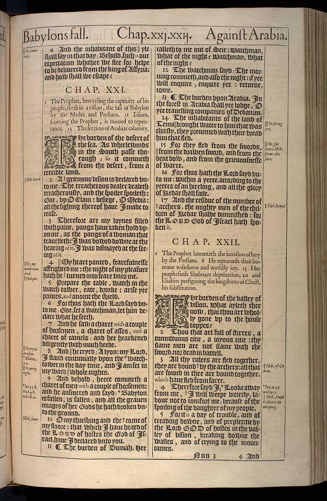 Isaiah Chapter 20 Original 1611 Bible Scan