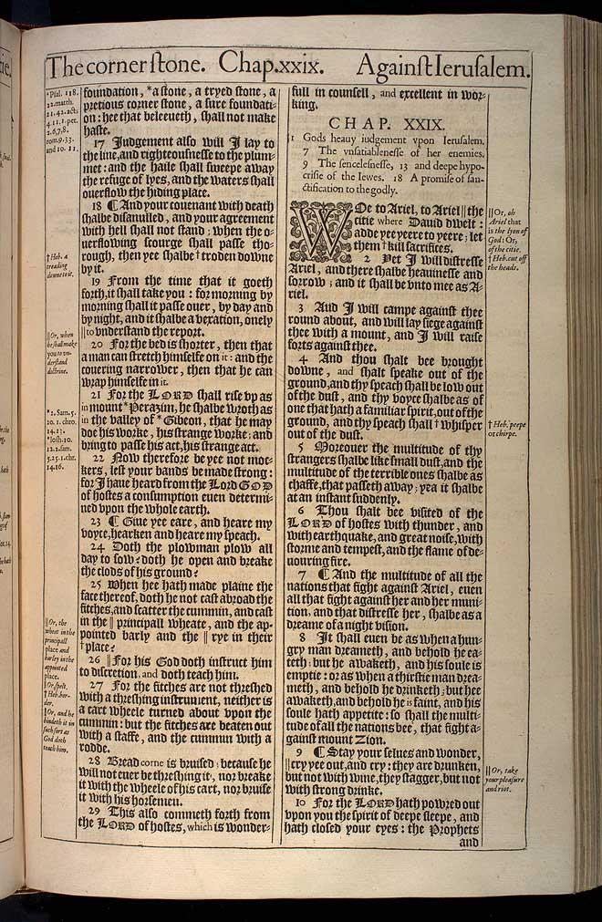 Isaiah Chapter 28 Original 1611 Bible Scan