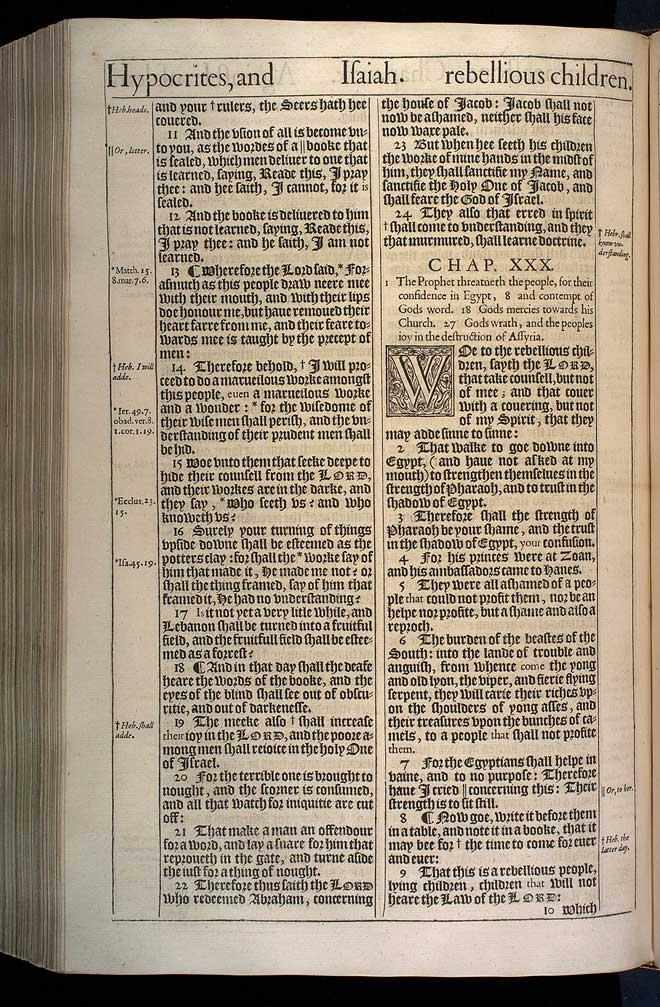 Isaiah Chapter 29 Original 1611 Bible Scan