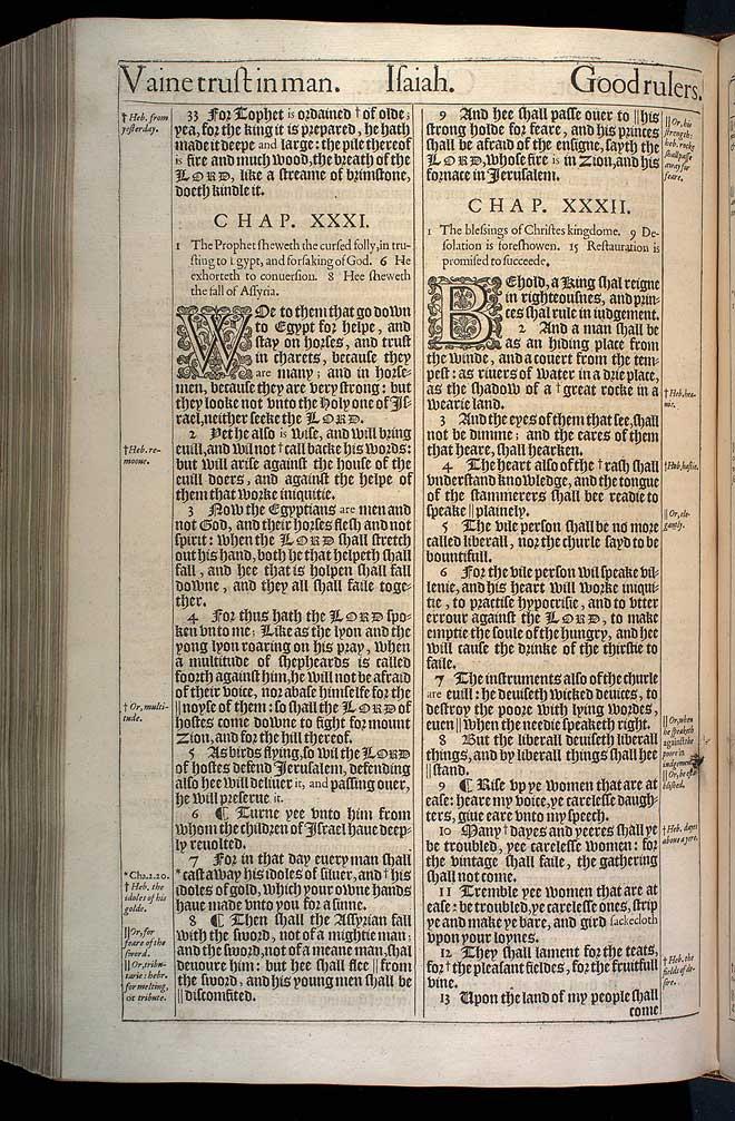 Isaiah Chapter 32 Original 1611 Bible Scan