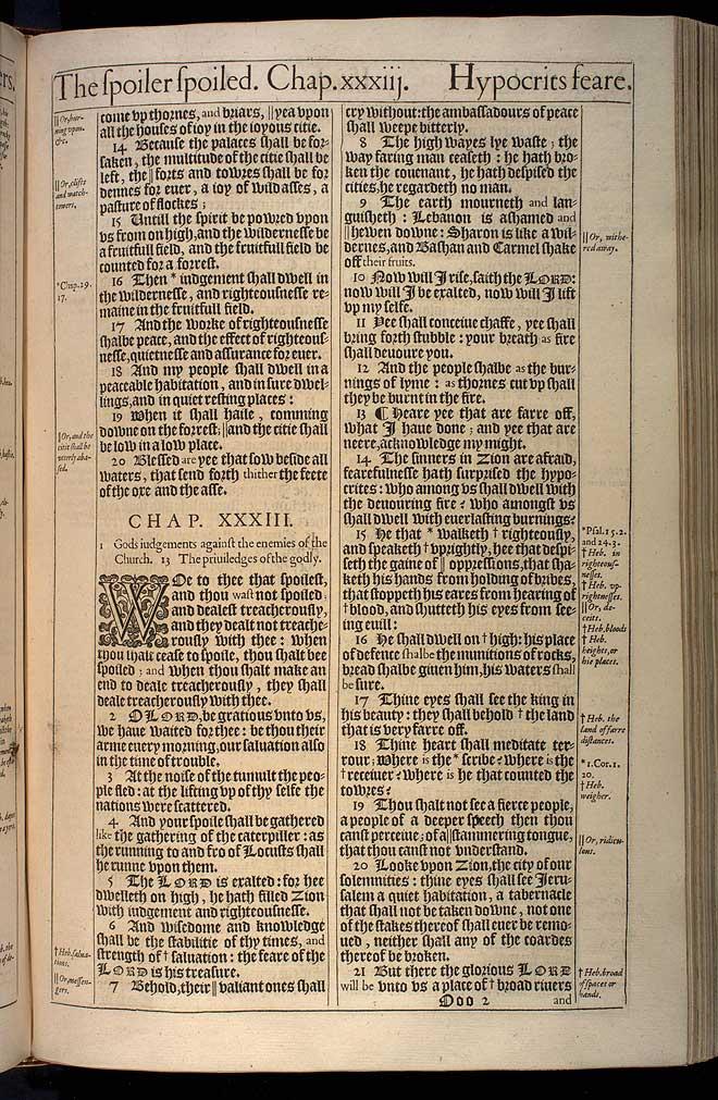 Isaiah Chapter 33 Original 1611 Bible Scan