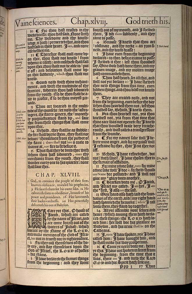Isaiah Chapter 47 Original 1611 Bible Scan