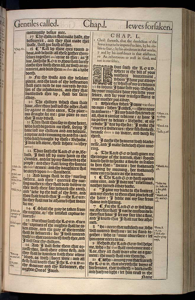 Isaiah Chapter 49 Original 1611 Bible Scan