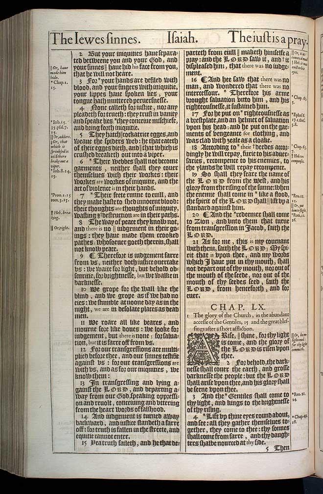 Isaiah Chapter 60 Original 1611 Bible Scan