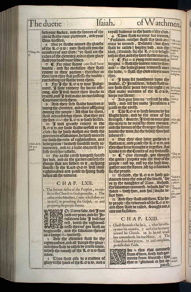 Isaiah Chapter 62 Original 1611 Bible Scan