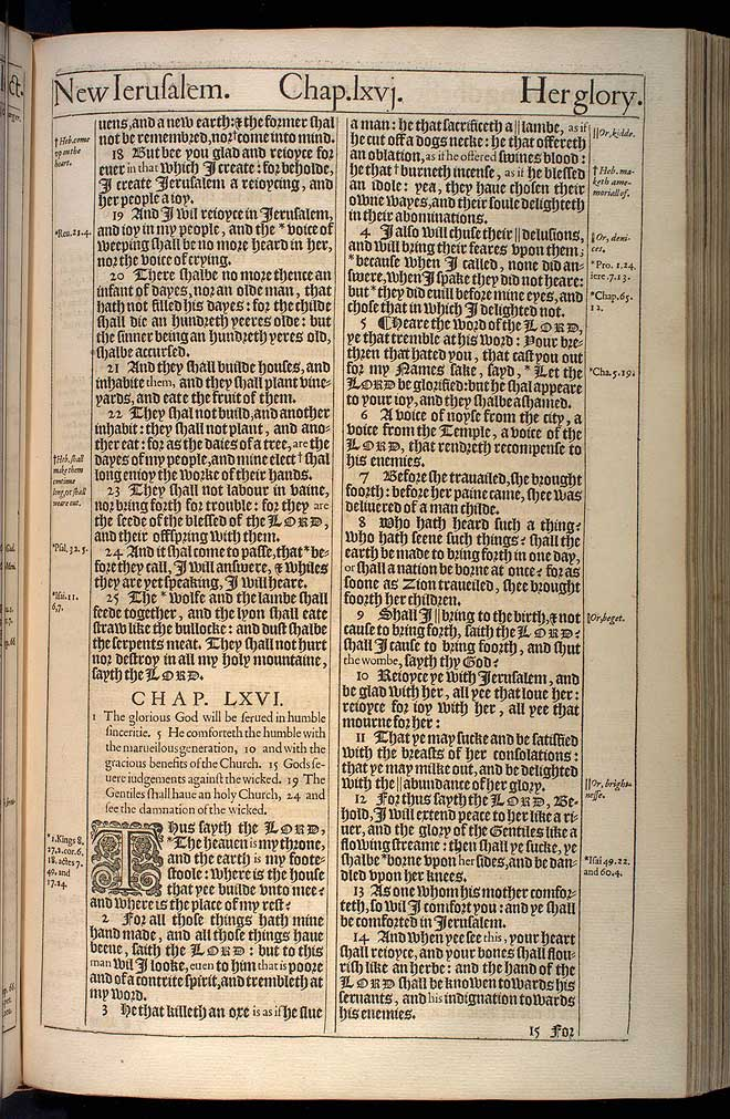 Isaiah Chapter 65 Original 1611 Bible Scan