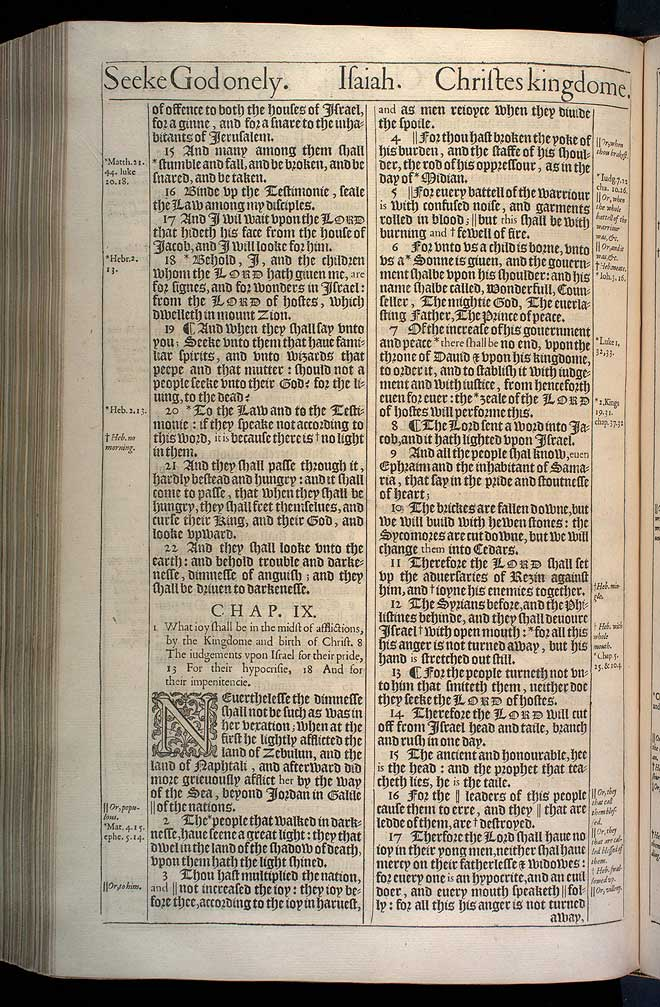 Isaiah Chapter 8 Original 1611 Bible Scan