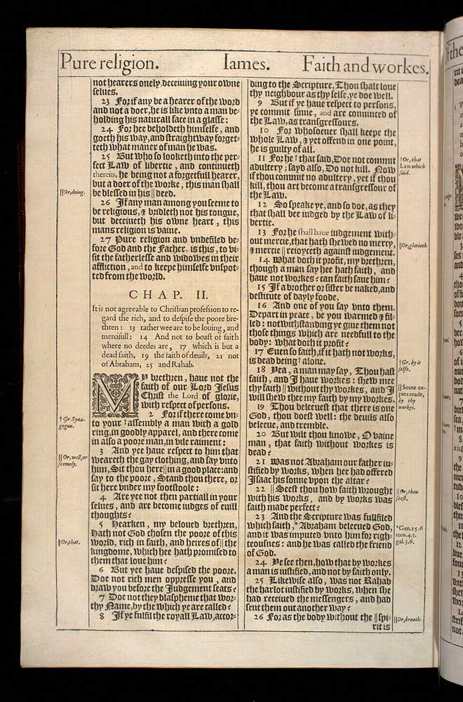 James Chapter 2 Original 1611 Bible Scan
