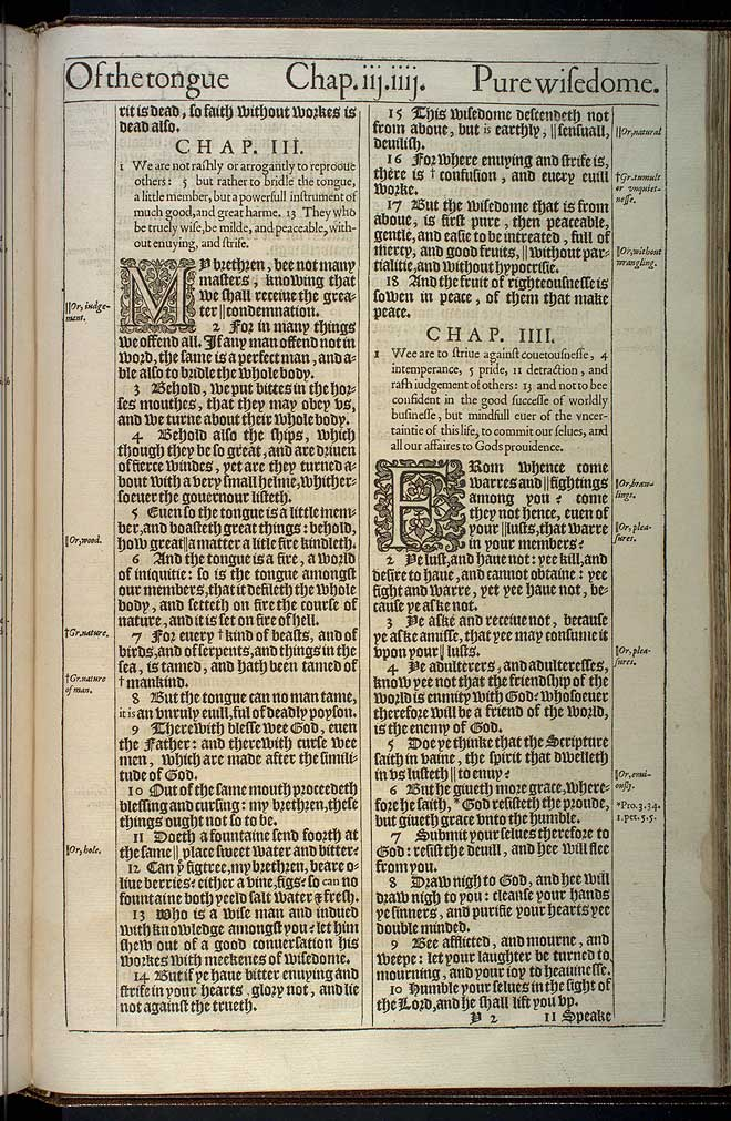 James Chapter 3 Original 1611 Bible Scan