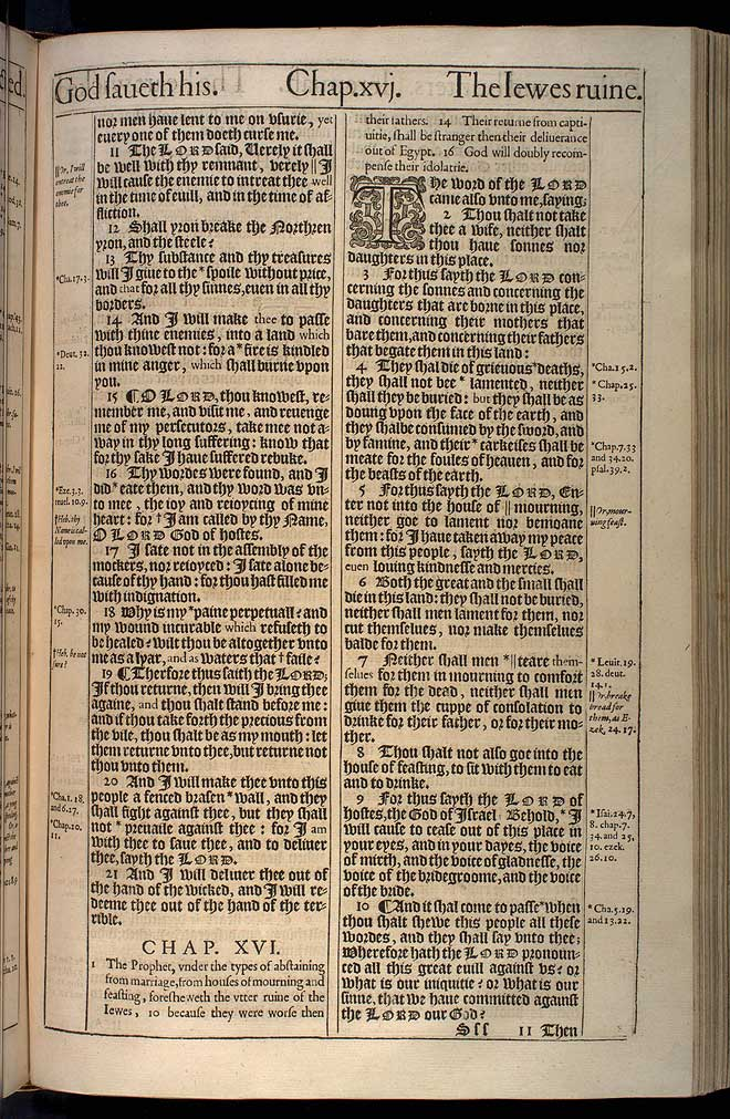 Jeremiah Chapter 15 Original 1611 Bible Scan
