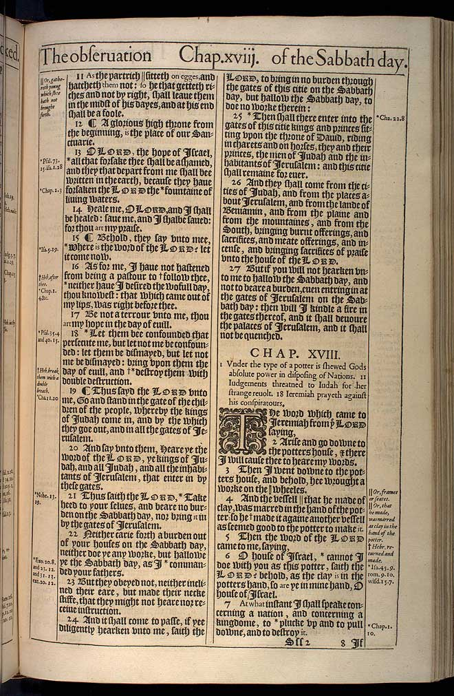 Jeremiah Chapter 17 Original 1611 Bible Scan