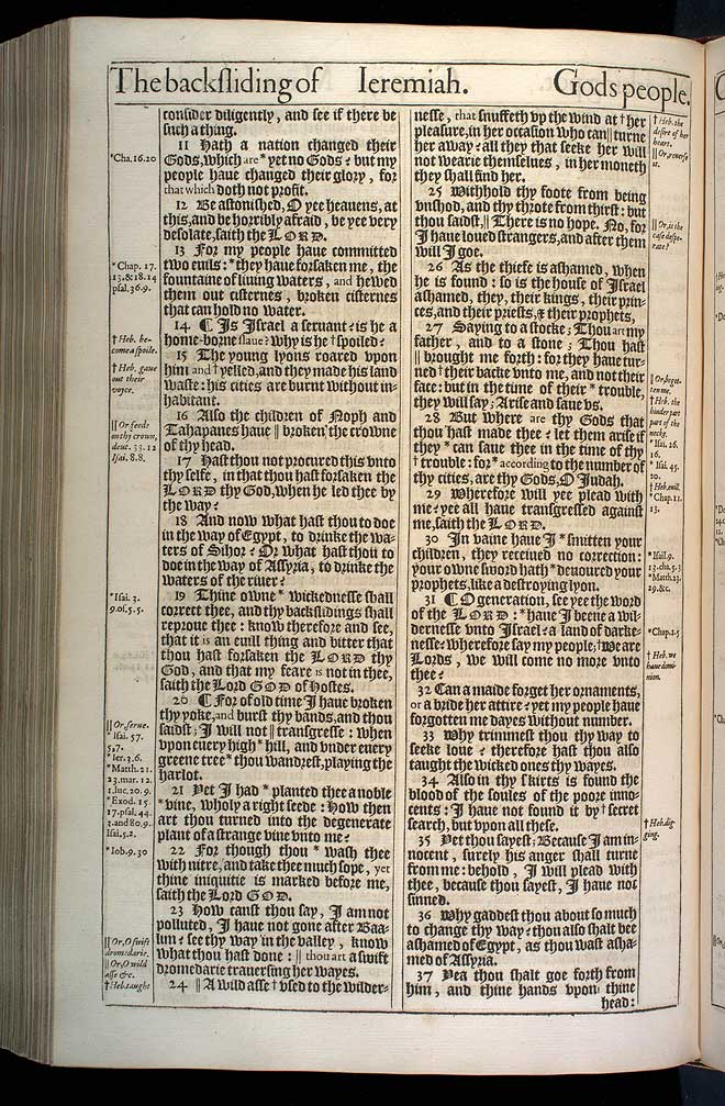 Jeremiah Chapter 2 Original 1611 Bible Scan