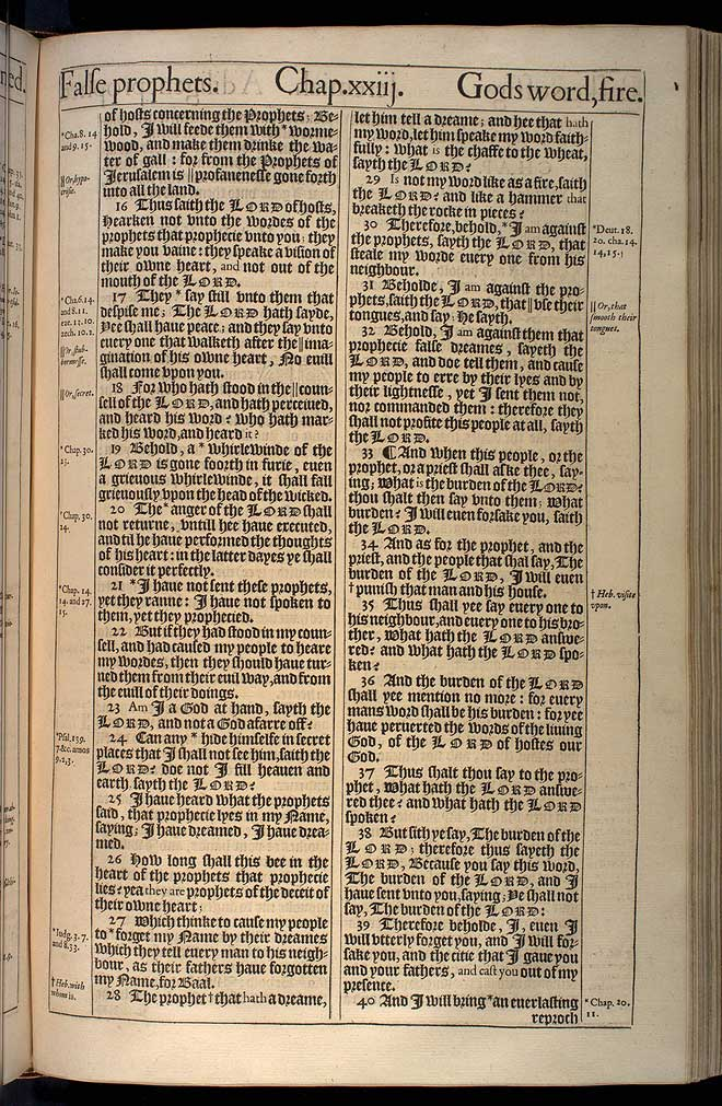 Jeremiah Chapter 23 Original 1611 Bible Scan