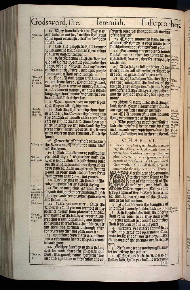 Jeremiah Chapter 5 Original 1611 Bible Scan