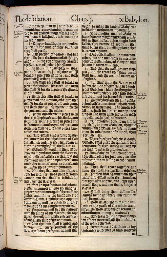 Jeremiah Chapter 51 Original 1611 Bible Scan