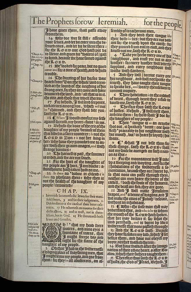 Jeremiah Chapter 8 Original 1611 Bible Scan