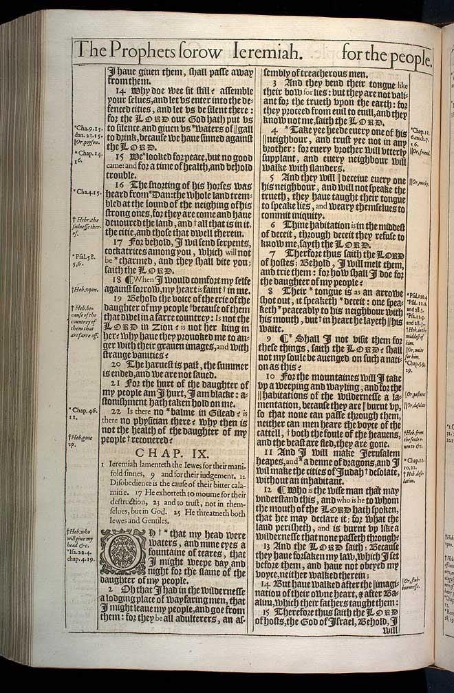 Jeremiah Chapter 8 Original 1611 Bible Scan