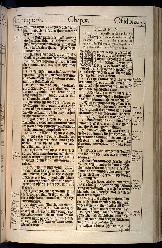 Jeremiah Chapter 9 Original 1611 Bible Scan