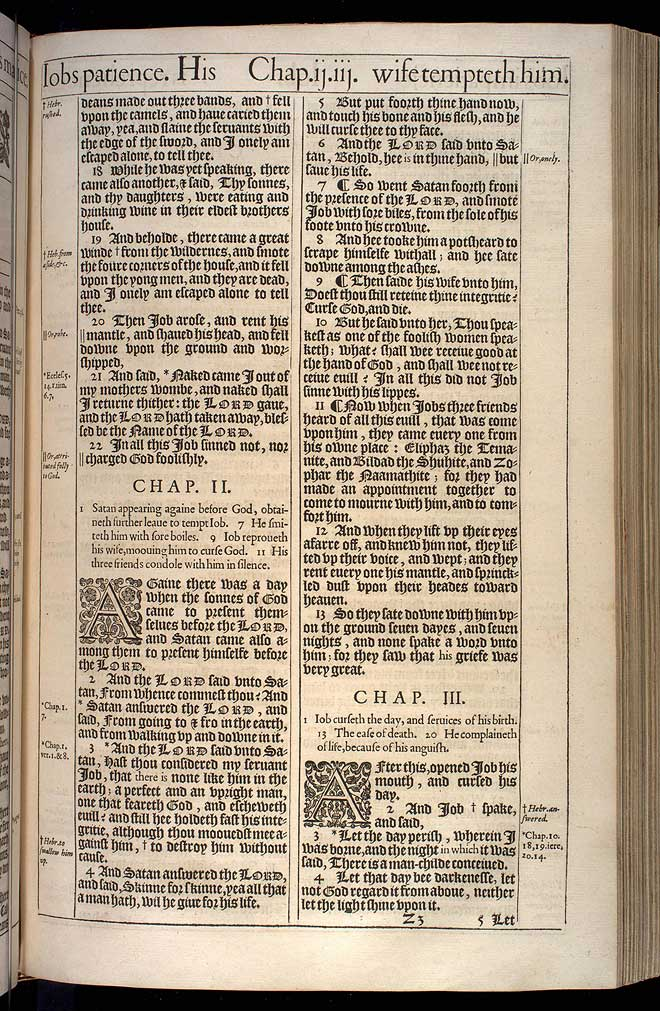 Job Chapter 1 Original 1611 Bible Scan