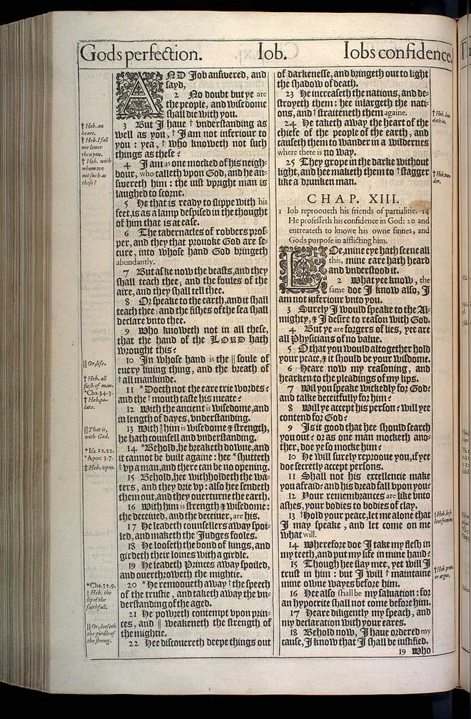 Job Chapter 12 Original 1611 Bible Scan