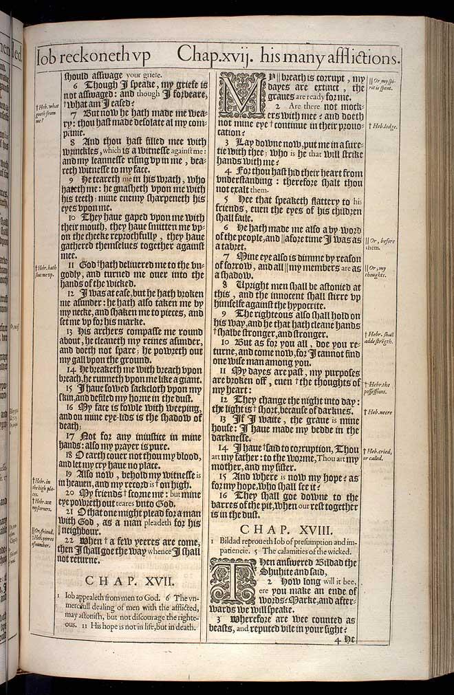Job Chapter 16 Original 1611 Bible Scan