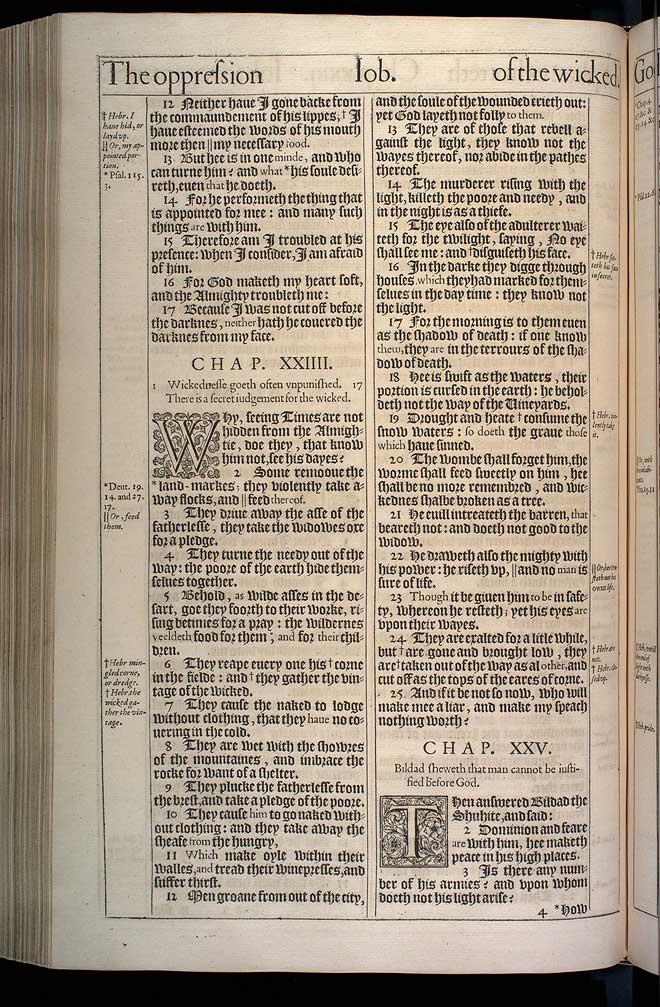 Job Chapter 23 Original 1611 Bible Scan
