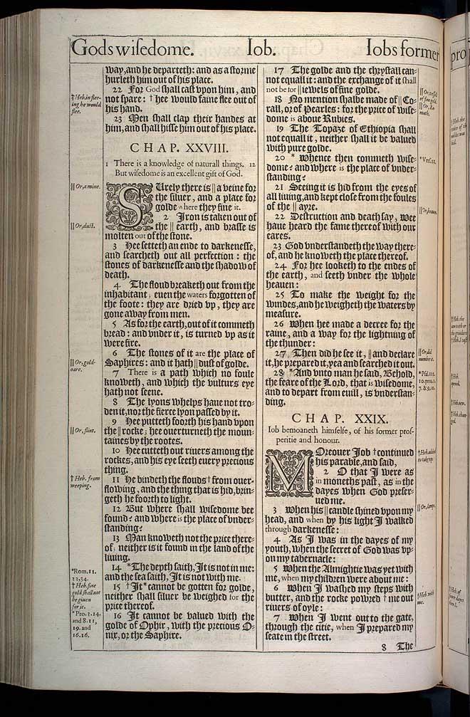 Job Chapter 29 Original 1611 Bible Scan