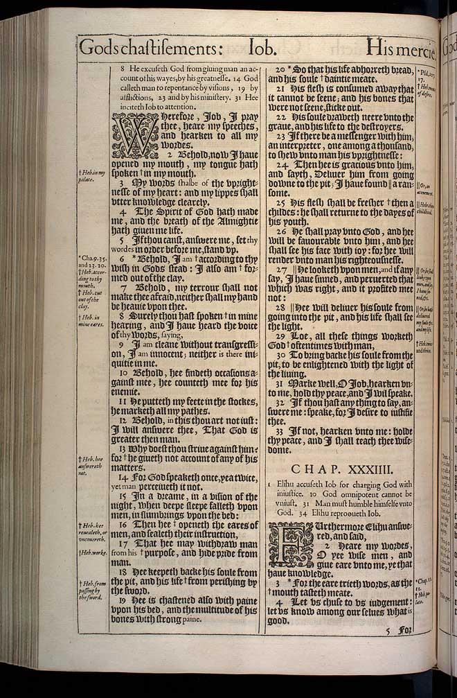 Job Chapter 34 Original 1611 Bible Scan